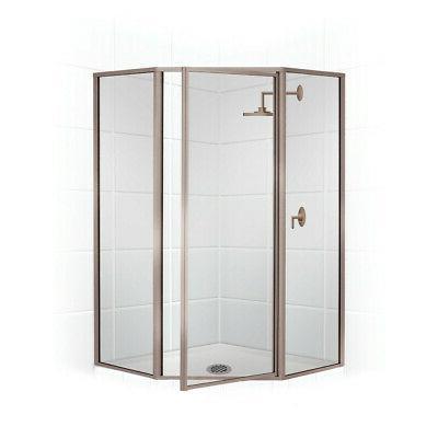"""Coastal Shower Doors Legend 24"""" x 70"""" Neo-Angle Swing Door S"""