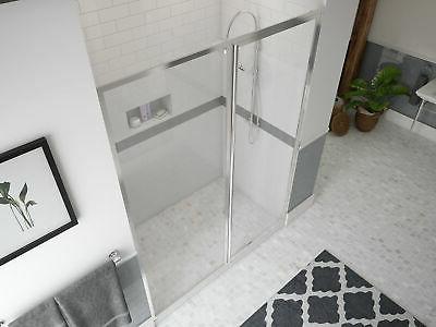 legend series 42 x66 hinged framed shower