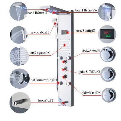 LED Nickel Panel Waterfall&Rain System