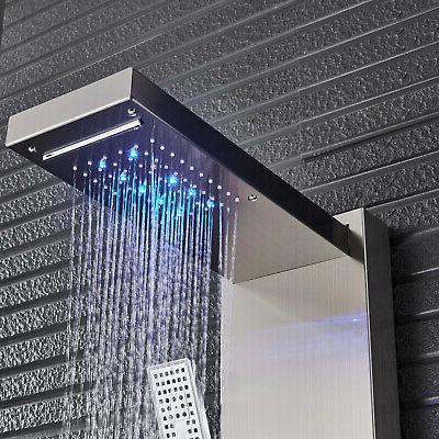 LED Brushed Shower Panel