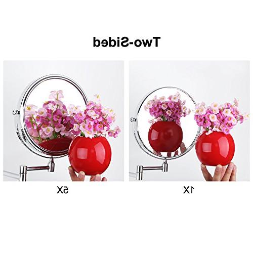 SONGMICS Mount Makeup Two-Sided 360°Swivel Cosmetic