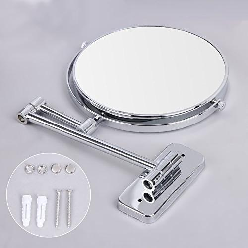 """SONGMICS 8"""" Makeup 5X Two-Sided 360°Swivel Extendable Cosmetic UBBM513"""