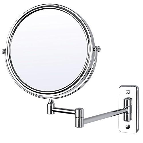 magnifying wall mounted mirror two