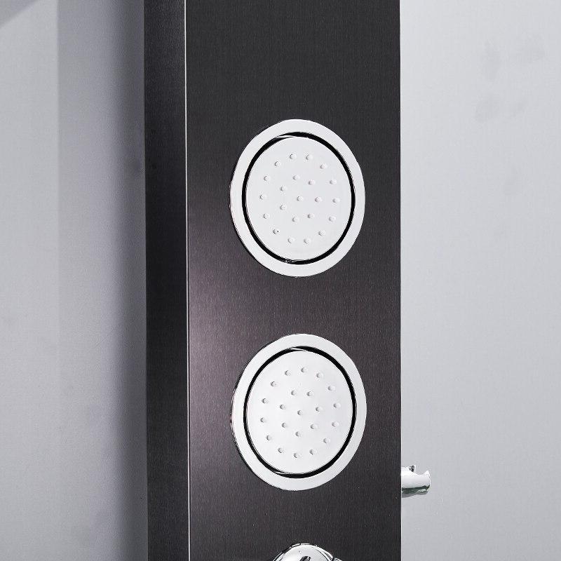 FLG Wall Black Rain Mixer <font><b>Panel</b></font> Column Jets