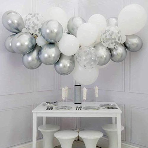 DIvine Inch Chrome Silver Balloons for Wedding Party Shower Graduation