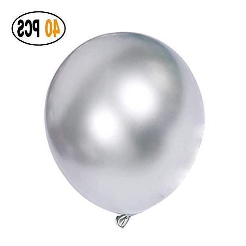 metallic chrome silver balloons
