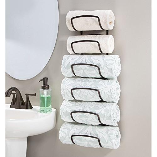 Level Bathroom Rack Holder Mount Storage of Bath Towels, Hand