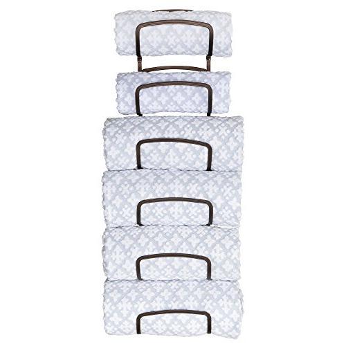 mDesign Level Bathroom Rack Holder Mount - of Bath Towels, Washcloths, Hand
