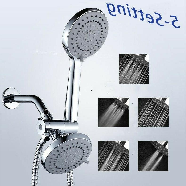 multi setting chrome rainfall shower head combo