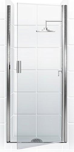 Coastal Shower Doors PQFR24.66B-C Paragon Series Semi-Framel