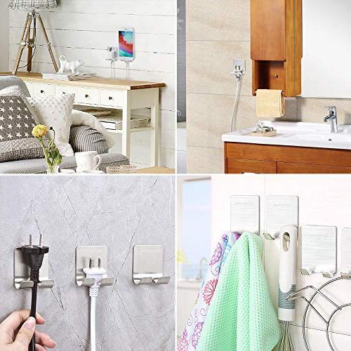 Razor Shaver Hanger Adhesive Steel Duty Storage Hook,Shower Razor,Bathroom Plug Towel Bathrobe