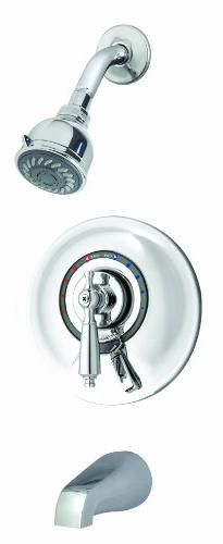 Symmons S-7602-X-Rp Allura Tub/Shower System, Chrome