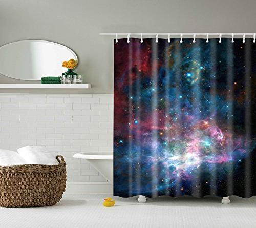 scene shower curtains 12 hooks