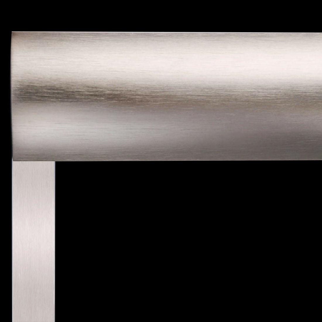 """ELEGANT Bypass Frosted Glass Doors 58 1/2-60""""W Nickel Finish"""