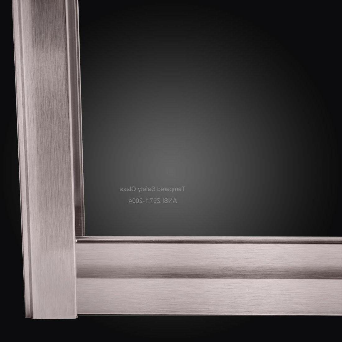 "ELEGANT Glass Tub 1/2-60""W Finish"