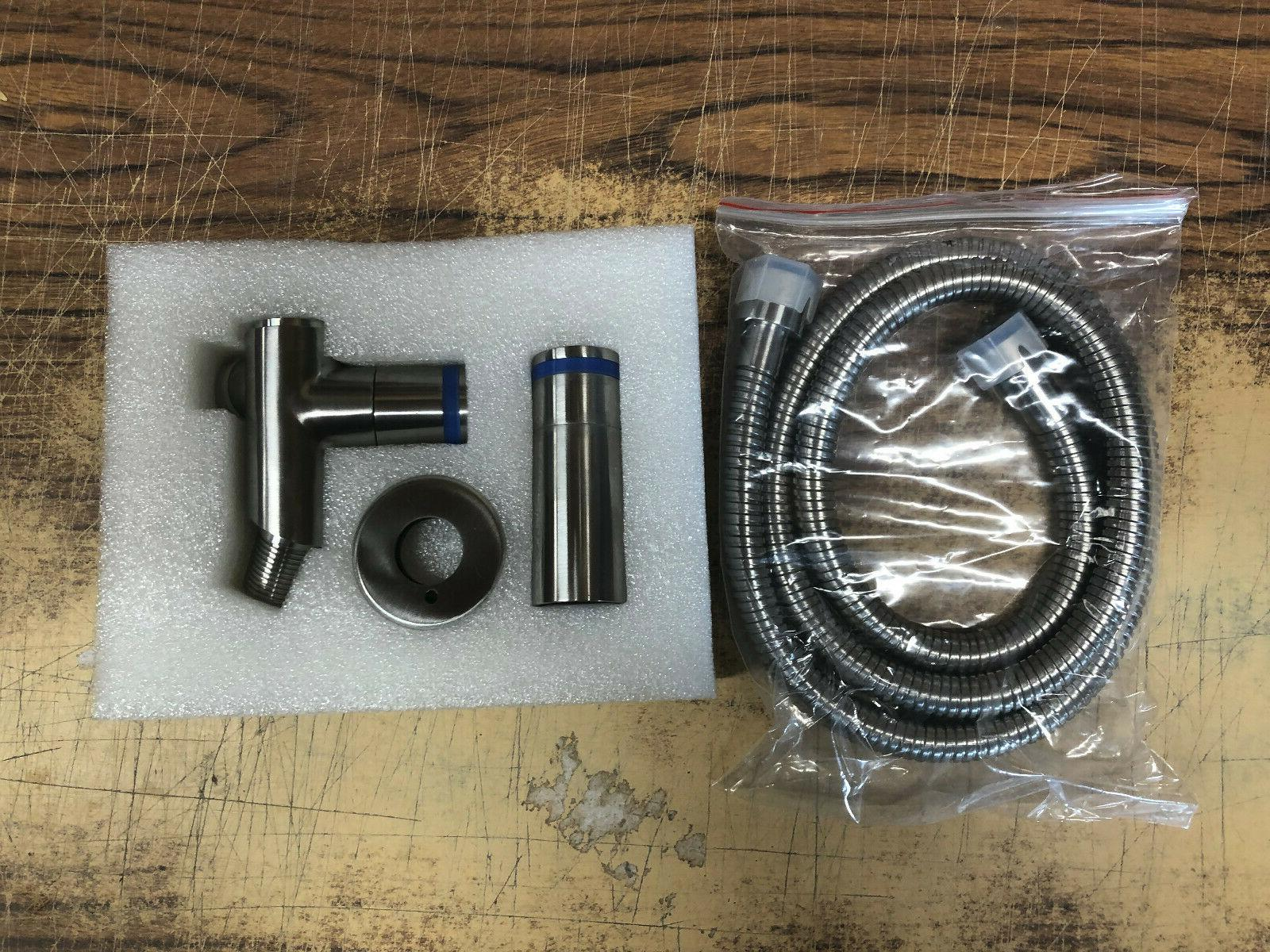 shower attachment valve kit including hose
