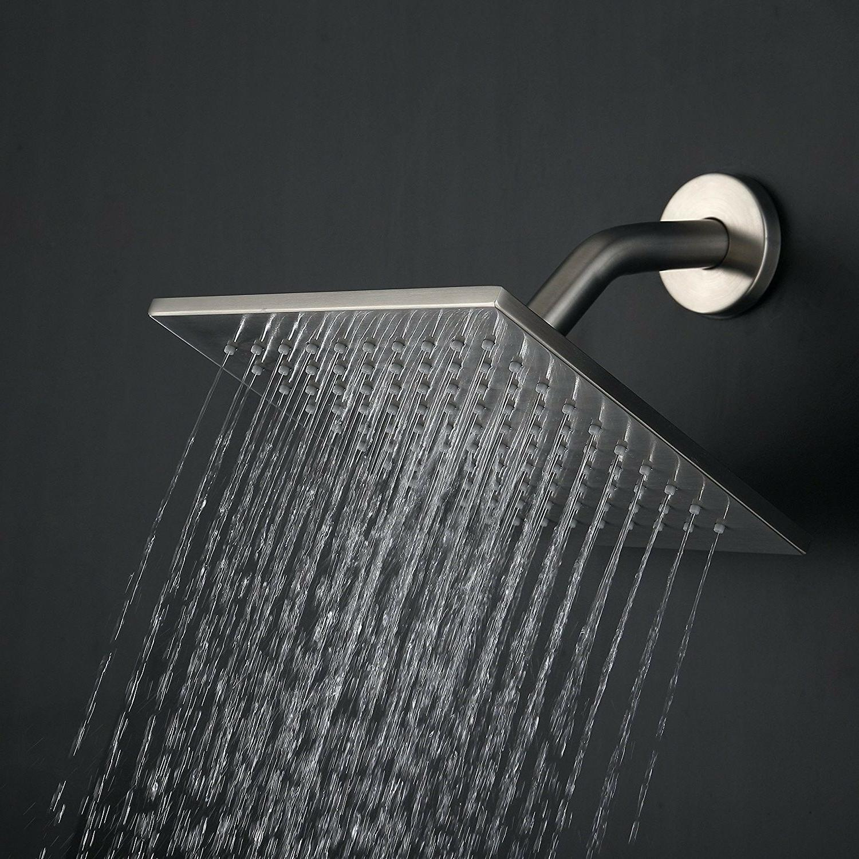 Shower Fixtures Brushed Nickel All Metal Split Big