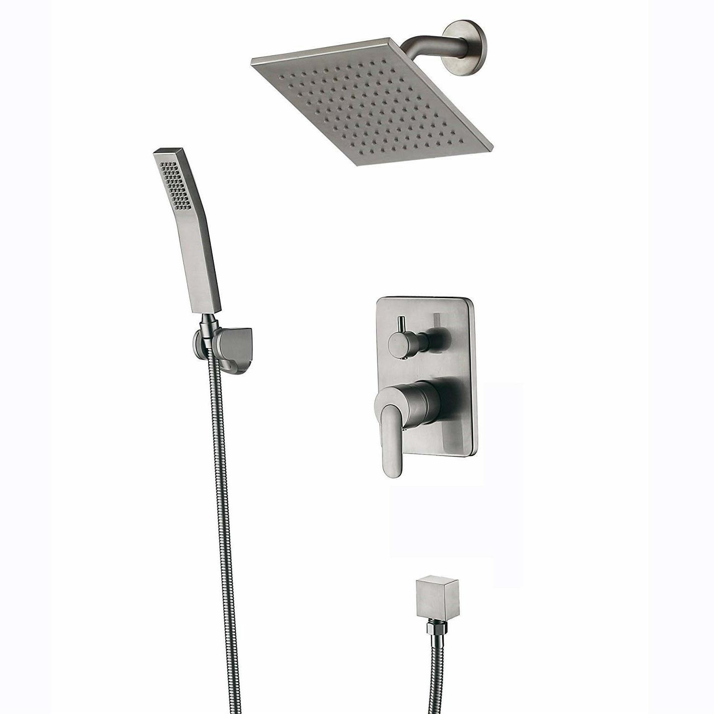 shower fixtures brushed nickel all metal split