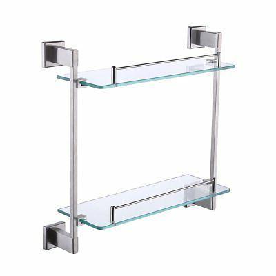 shower glass shelf 2 tier