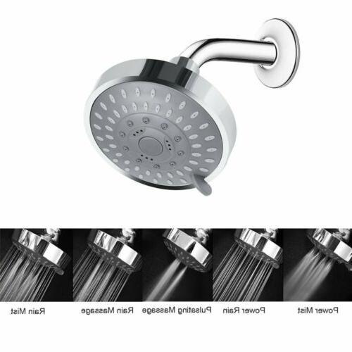 Shower High Rain 5-Setting Adjustable..