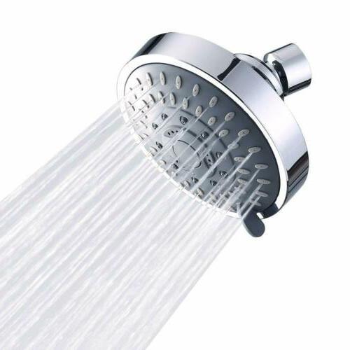 Shower Head Pressure Rain Fixed Rainfall 5-Setting Adjustable..