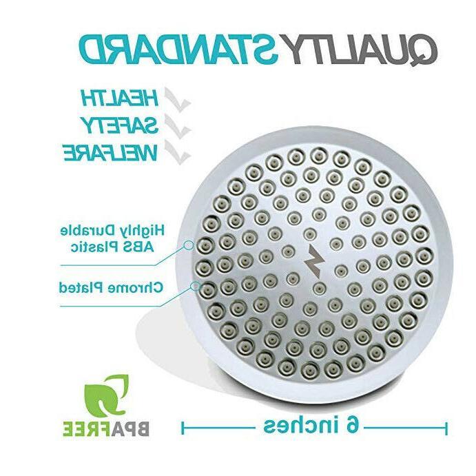 SparkPod Pressure Rain Shower Head - Modern Look - Stands