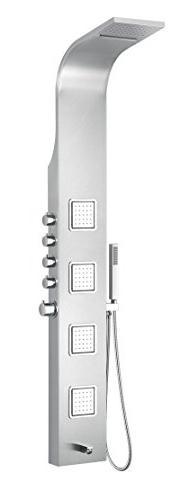 "64"" Shower Panel - Brushed Steel - Mesa Series SP-AZ043 - AN"