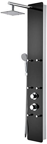 "59"" Shower Panel System Shower Panel - Black - Melody SP-AZ0"