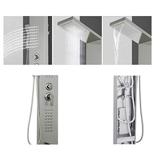 Happybuy System Multi-Function Shower Rainfall Waterfall Tub Spout Shower for Resort Split