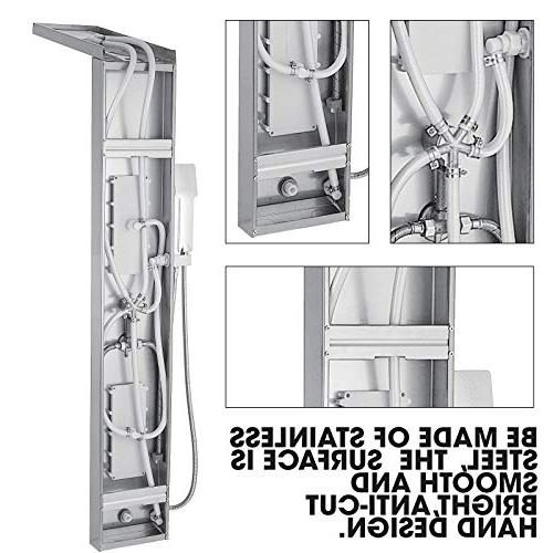 Happybuy System Stainless Shower Rainfall Tub Spout Split
