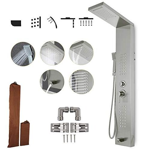 shower panel tower system stainless