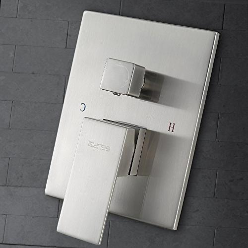 """Esnbia Shower System, Nickel Shower with and 12"""" Rain Wall Mounted"""