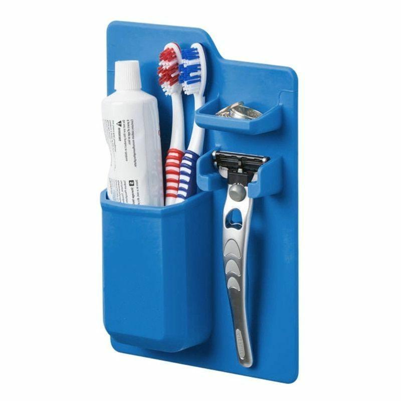 silicone holder bathroom toothbrush organizer mighty storage