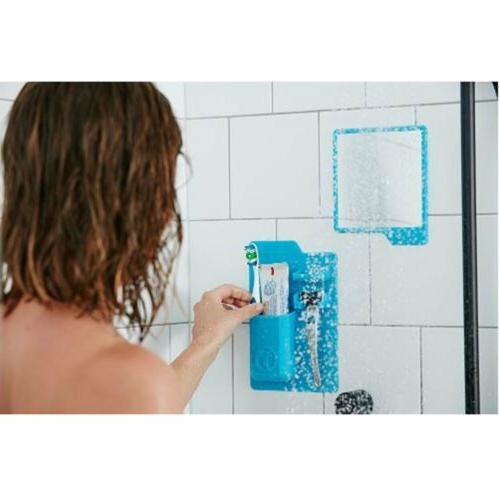 Silicone Bathroom Mirror Shower Storage
