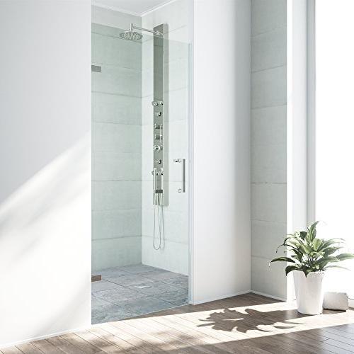 soho adjustable frameless shower door