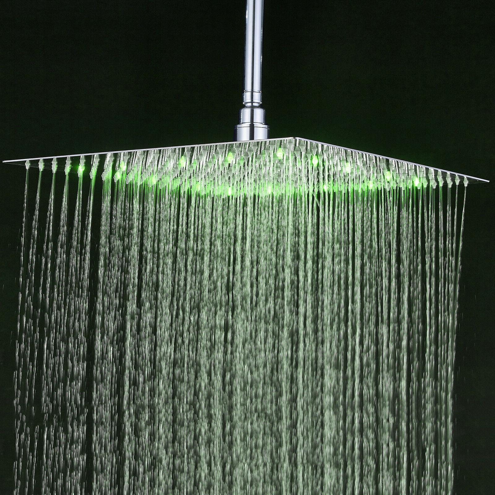 Shower Chrome Square Ultrathin Rotate