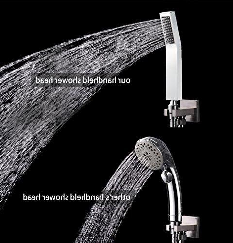 SR SUN Bathroom Luxury Rain Shower Set Mounted Shower System Chrome