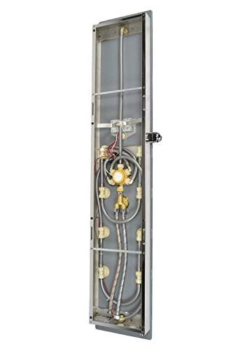 """Blue 52"""" Stainless Steel Panel with Shower Head, 8 Spout"""