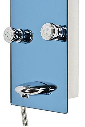 """Blue 52"""" Stainless Steel SPV878392H Panel with Rainfall 8 Spout"""