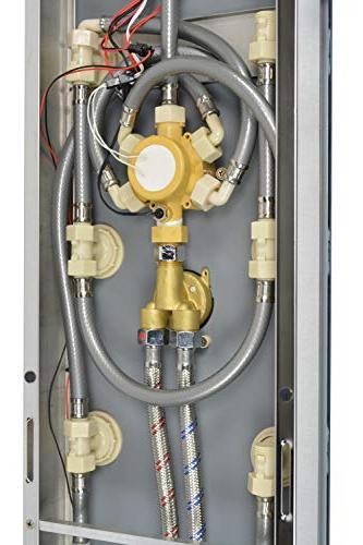 "Blue 52"" Steel SPV878392H Shower with 8 Adjustable Nozzles, Spout"