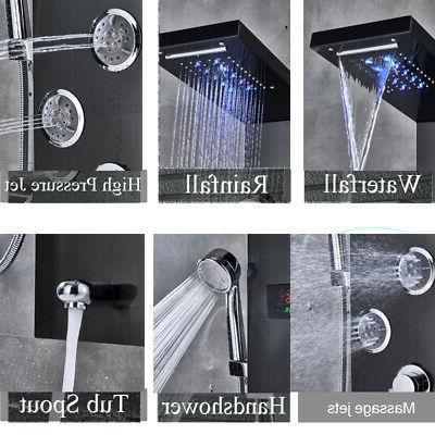 Stainless Shower Panel Tower Rain Massage Sprayer