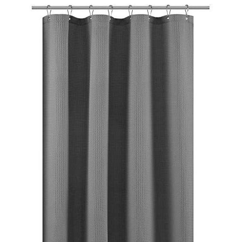 stall shower curtain fabric waffle
