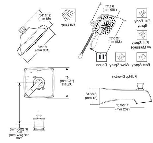 Delta Faucet Ashlyn Series Shower Trim Kit Touch-Clean In2ition Stainless