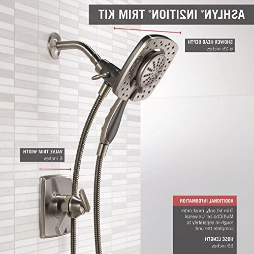 Delta Faucet Ashlyn Series Kit 2-Spray Touch-Clean In2ition Held Shower with Stainless T17264-SS-I