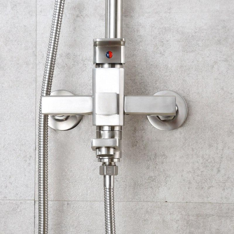 The square 304 steel <font><b>shower</b></font> high-end cold and hot mixer