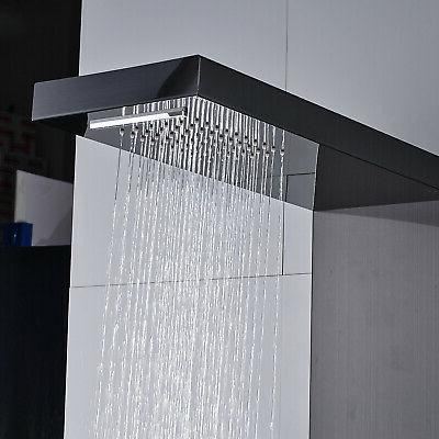 Thermostaic Stainless Steel Panel Jets