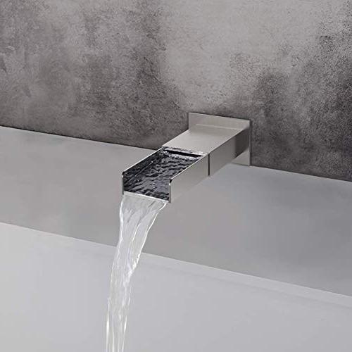 SR Spout Rain Shower with and Handheld Shower Combo Set Ceiling Rainfall Head Brushed