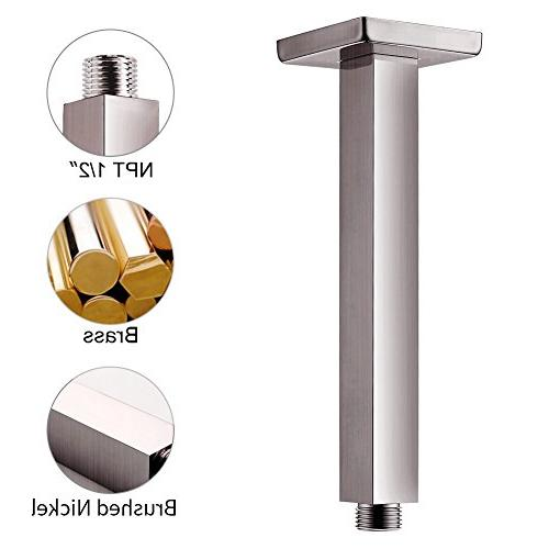 SR Spout with Rain Shower Head and Handheld Head Combo Ceiling Mounted Rainfall Shower Brushed