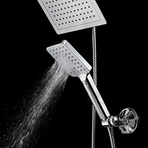"DreamSpa 9"" Shower Push-Button Flow for easy one-handed operation. Switch the hand! Chrome"