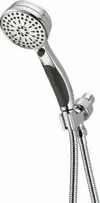 Delta Faucet 9-Spray Hand Held Shower Head with Hose, Chrome